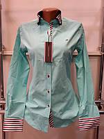 Красивая женская рубашка Th 85 зеленого цвета L