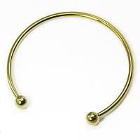 Основа для браслета Пандора, в виде Кольца, Латунь, Цвет: Античное Золото, Размер: Диаметр 70мм, Внутренний 64,5мм Толщина 3мм, (УТ100006155)