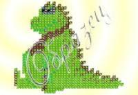 """Схема Частичная для Вышивки А6, Бисером, """"Дракоша"""", ТМ """"Ришелье"""", Арт. Е-10, (УТ0026205)"""