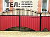 Ворота закрытые профнастилом 7230