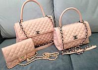 Сумка женская Coco Chanel в розовом цвете