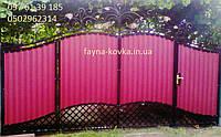 Ворота закрытые профнастилом 9630