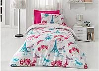 Подростковый полуторный комплект постельного белья Cotton Box Pink Rose, ранфорс, Турция