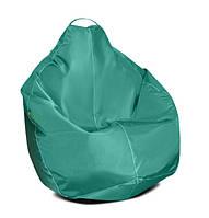 Детское кресло мешок груша зеленое 100*75 см из ткани Оксфорд