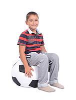 Кресло-мяч 50 см из ткани Оксфорд черно-белое, кресло-мешок мяч