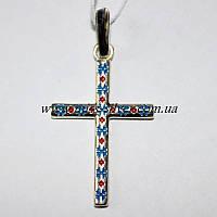 Крест декоративный с цветной эмалью Вышиванка