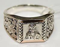 Перстень серебряный с золотом Николай Чудотворец