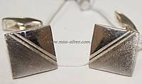 Запонки серебряные Стиль