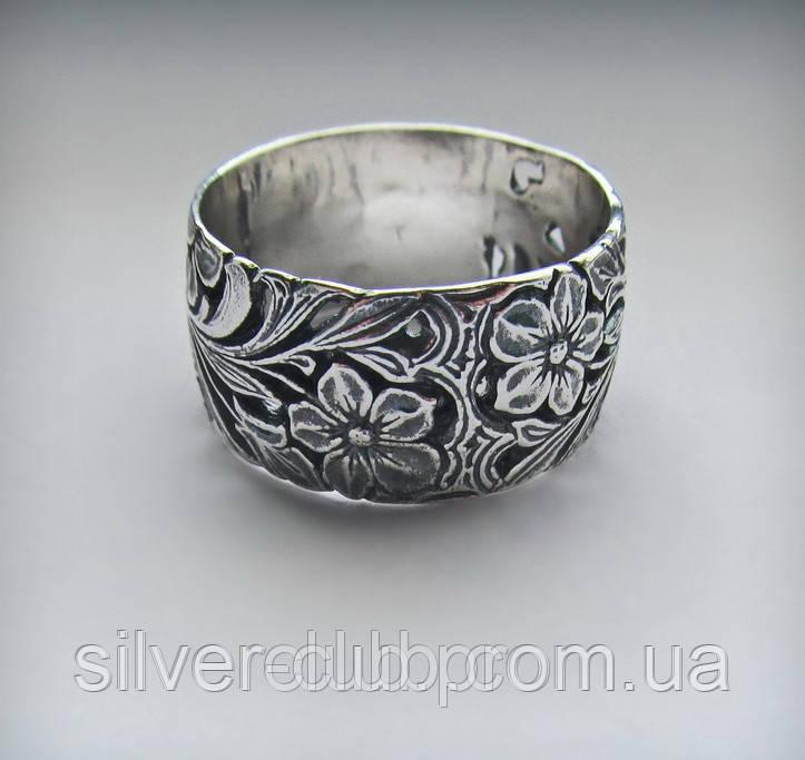 63eec222f5ae 1002 Серебряное кольцо Поляна 925 пробы - Интернет-магазин серебряных  изделий от украинского производителя Silverclub