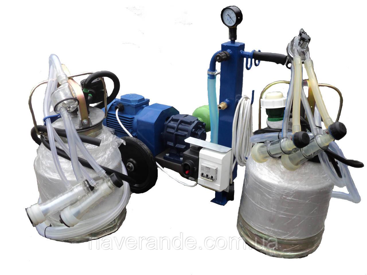 Доильный аппарат для коз и овец АИД-2/2 (сухой насос)