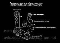 Ролик натяжной в сб ЗАЗ Форза A11-8111210BB. Ролик обводной ремня генератора Chery Ролик ремня генератор Forza, фото 1