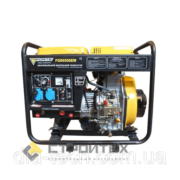 Дизельний зварювальний генератор FORTE FGD6500EW