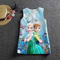 Детское платье с Эльзой из Холодного Сердца