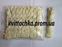Шнур капроновый для плетения шамбалы - молочный
