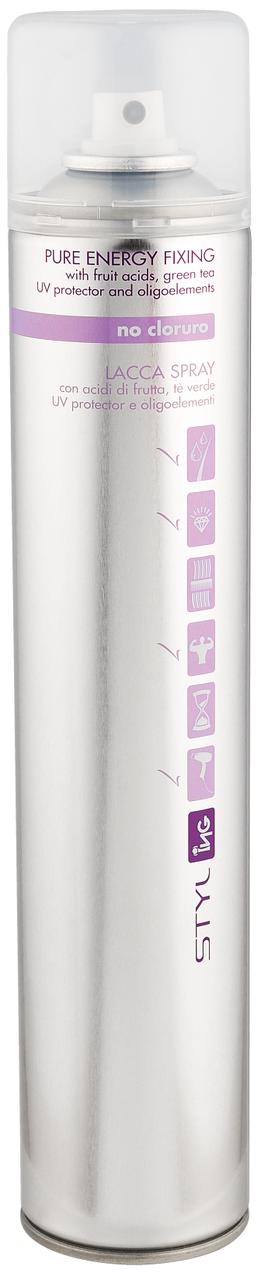 Лак-спрей ING Professional Styl-Pure Energy Fixing 500 мл.