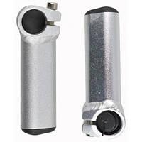 Рога алюминиевые короткие 100mm, серебро