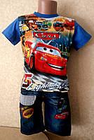 Костюм для мальчика шорты  и футболка  Тачки Маквин 122-128 см, фото 1