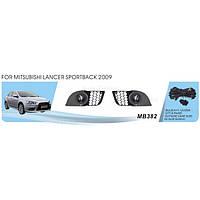 Фары доп.модель Mitsubishi Lancer Sportback/Evolution X/2009-/MB-382/эл.проводка