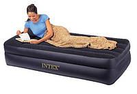 Кровать велюр INTEX 66721 син.,(без насоса),в кор. 99*191*47см IKD
