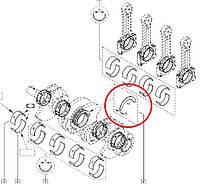 Полукольца разбега колевала - стандарт (2,80мм) Renault Kangoo II 1.5 Dci (K9K) GLYCO Германия - A168/2 STD GL