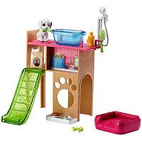 Barbie Мебель для кукол Отдых дома Уголок домашнего питомца Barbie Pet Station & Puppy Playset