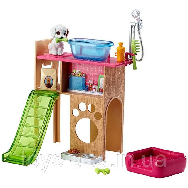 Barbie Мебель для кукол Отдых дома Уголок домашнего питомца Barbie Pet Station & Puppy Playset - Интернет-магазин детских игрушек Toys-USA  в Ужгороде