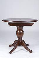 Стол обеденный круглый раскладной Гермес орех, фото 1