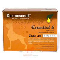 Средство для собак по уходу за кожей и шерстью Essential-6 spot-on (Дермосент) Dermoscent (20-40 кг (4 х 2,4 мл))