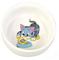 Trixie (Трикси) Миска керамическая для кошек 300мл*11см