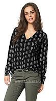 Женская рубашка туника в черепах ОТТО Германия С, М, Л