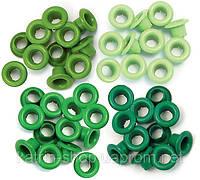 Люверсы We R Memory Keepers, 60 шт., 5 мм Green