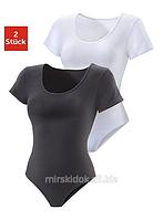 Женское боди футболка Namaldi суперкачество хлопок спортивные швы утяжка