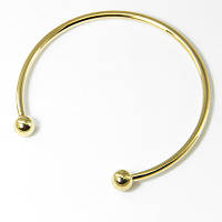 Основа для браслета Пандора, в виде Кольца, Латунь, Цвет: Золото, Размер: Диаметр 70мм, Внутренний 64,5мм Толщина 3мм, (УТ100006153)