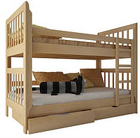"""Двухъярусная кровать """"Зарина"""" из дерева (массив бука) 70/200, Другой цвет, да"""