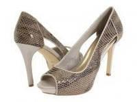 Кожаные туфли босоножки на шпильке