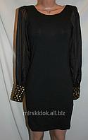 Маленькое черное платье TG с воздушными рукавами хс, с (утяжка)