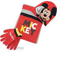 """Комплект """"Микки"""" шапка, шарф и перчатки"""