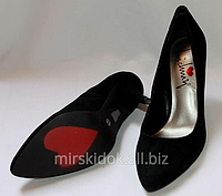 Туфли брендовые замшевые шикарные черные лодочки Luichiny на шпильке