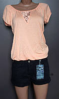 Футболка блуза с кружевом OTTO европейские размеры 34,36,38,40