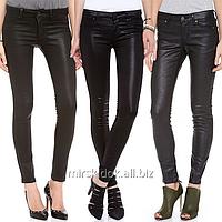 Черные  бреновые кожаные джинсы для женщин LAURA SCOTT Германия С, М, Л, рост  до 165