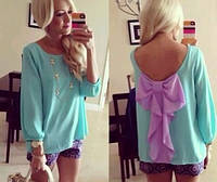 Блуза волан рукава