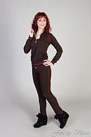 Спортивный костюм трикотаж-двухнитка, коричневый.7035