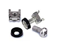 Набор крепления (винт, шайба и закладная гайка) для девятнадцатидюймового / десятидюймового оборудования