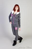 Женский спортивный костюм на флисе с мехом