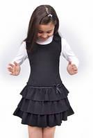 Сарафан школьный для девочки М-918 рост 116-146 черный, синий, зеленый,бордовый, фото 1