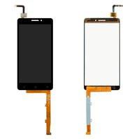Дисплей для мобильного телефона Lenovo Vibe P1m, черный, с сенсорным э