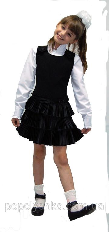 """Сарафан шкільний для дівчинки ПЛІСЕ М-925 ріст 116 і 128 Останній розмір на складі! тм """"Попелюшка"""
