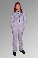 Спортивный костюм из трикотажа двухнитки. Цвет: Св.серый 1005