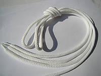 Шнурки для обуви 0,7 м белые, тонкие, диаметр 3 мм.