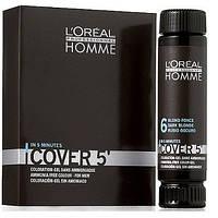 L'Oreal Professionnel Homme Cover 5 Мужской окрашивающий гель для волос №4 150 мл
